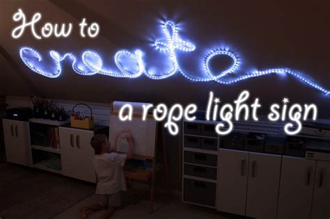 how to create rope light sign diy