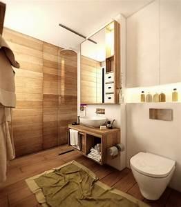 Holz Für Badezimmer : bad wandverkleidung mit holz warum denn nicht badezimmer wandverkleidung zenideen ~ Frokenaadalensverden.com Haus und Dekorationen