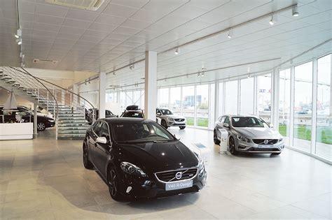 Illuminating Volvo Car Showroom In Lyon