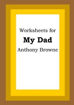 worksheets   dad anthony browne picture book