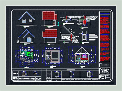 wooden house chalet  dwg plan  autocad designs cad