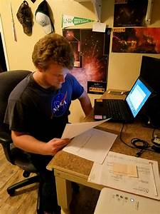 Uh Hilo Undergraduate Derek Hand Conducting Astronomy Research On Merging Galaxies