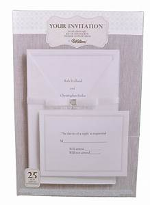 set of 25 wilton wedding princess invitation kit 1010 107 With wilton wedding invitation kit template
