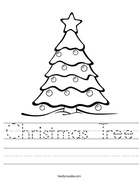 christmas tree worksheet twisty noodle