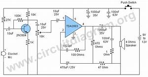 Voice Amplifier Circuit  Megaphone Circuit  With Images