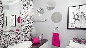Stunning decor of girls bathroom ideas with polkadot for Bathroom girls pic