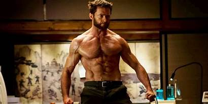 Jackman Hugh Wolverine Beard Transformation Logan Fitness