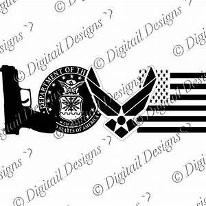 Love Air Force symbols SVG - png - fcm - eps - dxf - ai ...