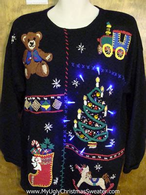 light up ugly christmas sweater the tree isnt the only thing getting lit where to find sweaters tacky light up tops for your