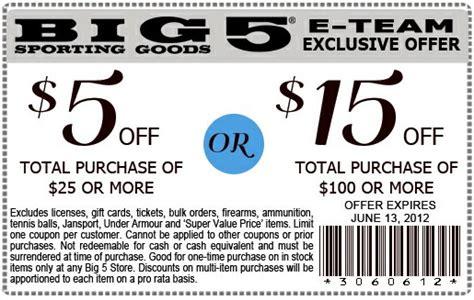 big 5 printable coupon 2017