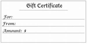 Gift certificates for any amount for Free blank gift certificate