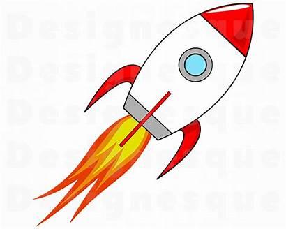 Clipart Spaceship Rocket Space Svg Launch Rocketship