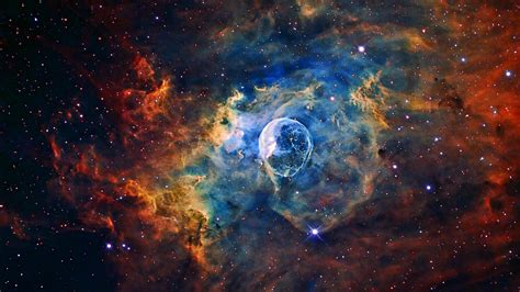 Stellar Bubble Nebula Image for Hubble's 26th Anniversary ...