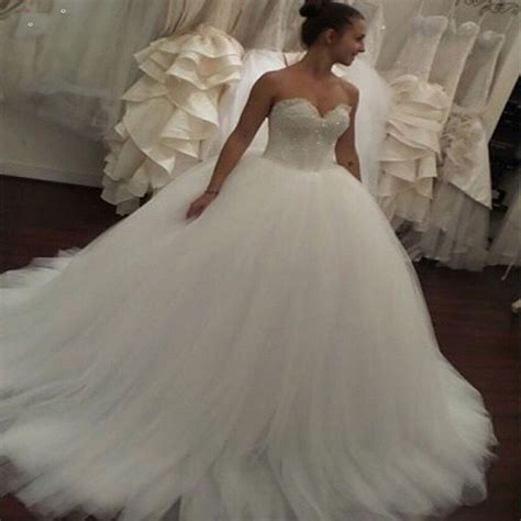 Wedding Gowns by Gelinlik 2015 Gown Sweetheart Tulle Wedding Dresses