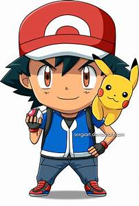 Pokemon - Chibi Ash by SergiART on DeviantArt