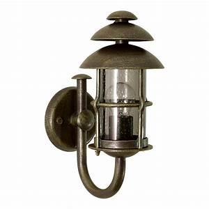 Large Antique Galvanized Calluna Motion Sensor Outdoor