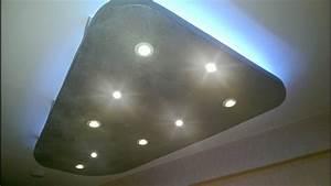 Spots Led Decke : abgeh ngte decke mit indirekter beleuchtung led spots rgb led strips youtube ~ Buech-reservation.com Haus und Dekorationen