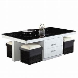 Table Basse Pouf Intégré : table basse pas cher avec pouf le bois chez vous ~ Dallasstarsshop.com Idées de Décoration