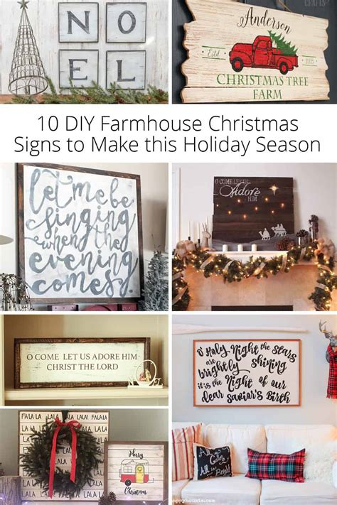 diy farmhouse christmas signs    holiday season