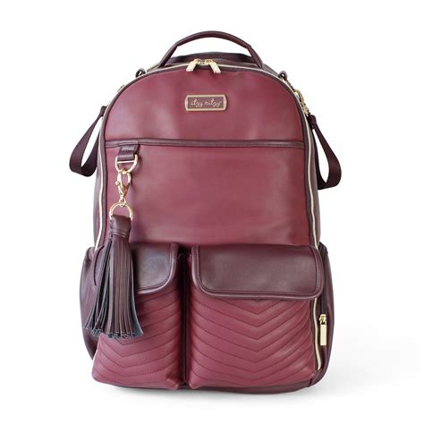 itzy ritzy diaper bag boss backpack merlot