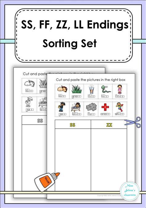 ss zz phonics worksheets ss ff zz ll sorting set language arts literacy and