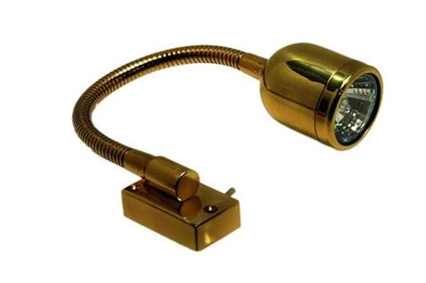 boat salon wall light w shade brass 12v boaterbits