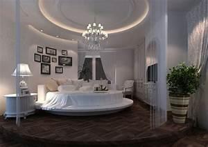 Lit Baroque Blanc : lit rond design pour la chambre adulte moderne en 36 id es ~ Teatrodelosmanantiales.com Idées de Décoration