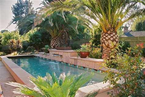 tropical pool landscaping astounding outdoor artificial palm trees decorating ideas gallery in landscape tropical design