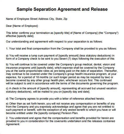 severance agreement 40 template severance agreement 6 free pdf doc sle templates