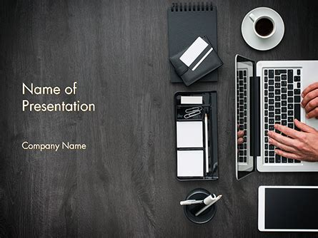 manager  working  office desk powerpoint template