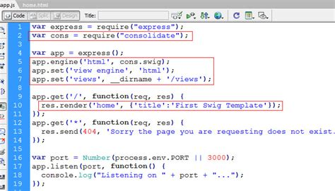 swig template using swig templates with expressjs learn web tutorials