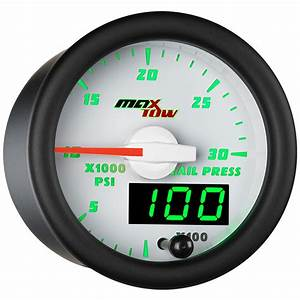 White Maxtow Double Vision 30 000 Psi Rail Pressure Gauge