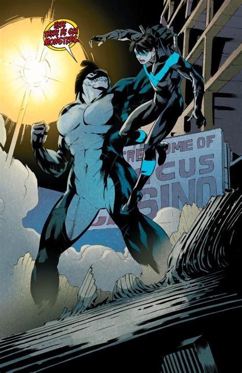 nightwing orca  bullseye gladiator battles comic