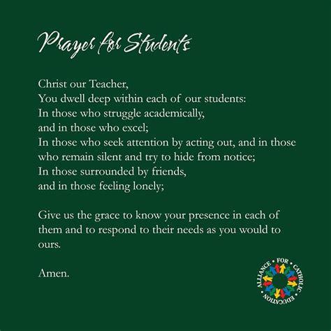 prayer   students alliance  catholic education