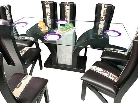 comedor  sillas moderno minimalista mesa vidrio templado