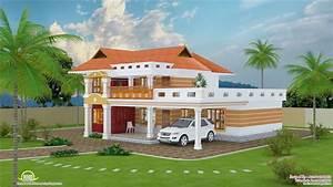 Feet, Beautiful, Villa, Design, Kerala, Home, Floor, Plans
