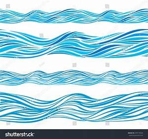 Blue Wave Patterns Seamless Background Isolated Stock ...