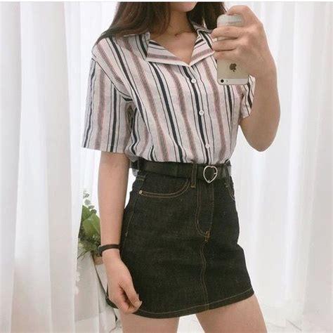 U02d7u02cfu02cb u2661 @ e t h e r e a l _ u02ceu02cau02d7 Korean tumblr outfit kfashion | threads. | Pinterest | Korean ...