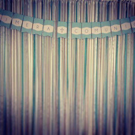 cintas cortinas decoracion con cortina de cintas y banner personalizado