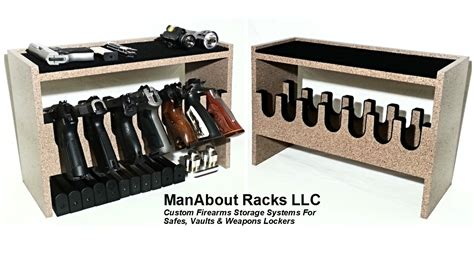 gun safe pistol rack custom pistol racks and handgun racks manabout racks llc