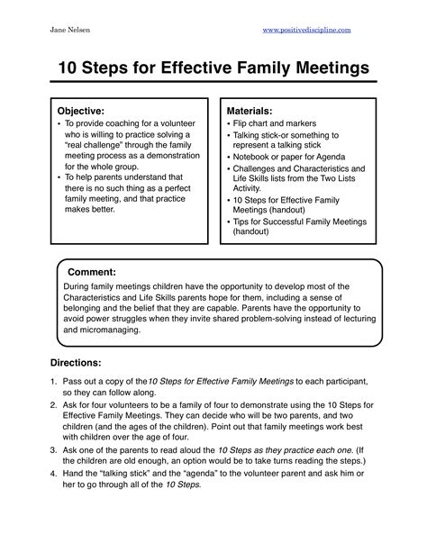 Are you ready to start a family meeting ritual? Family Agenda Sample   Templates at allbusinesstemplates.com