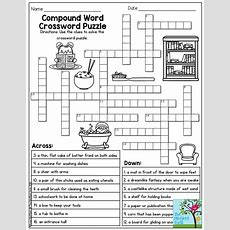 Compound Word Crossword Puzzle Tons Of Printables To Keep Children Engaged And Having Fun