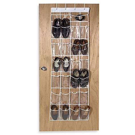 crystal clear 24 pocket over the door vinyl shoe organizer