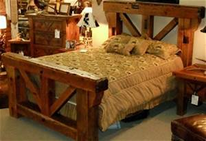 barn wood king ranch bed southern creek rustic furnishings With barn wood king size bed