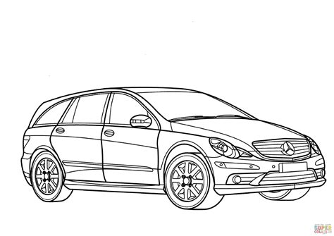 Mercedes-benz R-class Coloring Page