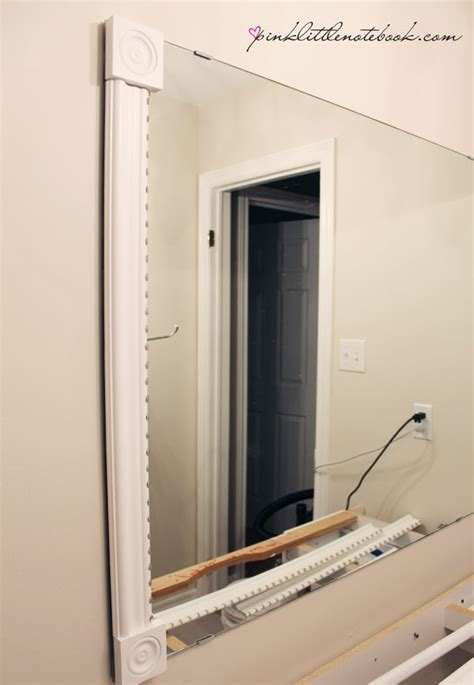 Builder Grade Bathroom Mirror by How To Frame Out That Builder S Grade Mirror The Easy Way