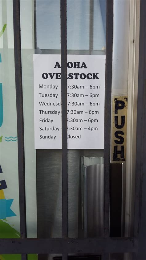 overstock phone number aloha overstock outlet stores 743 waiakamilo rd