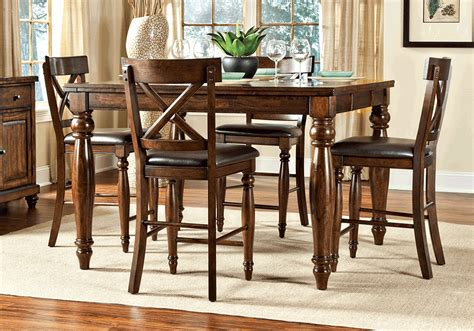 counter height dining room table sets kingston counter height dining table and 4 side chairs