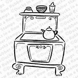 Pages Colouring Aga Stove Coloring Drawing Electronics Animation Printable Diy Miniature Printablecolouringpages sketch template