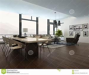 interieur moderne de luxe de salon d39appartement With plan d appartement 3d 16 appartement terrasse moderne illustration stock image